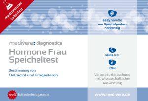 Hormone Frau Speicheltest von Estradiol, Estriol und Progesteron Image