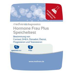 Hormone Frau plus Speicheltest von DHEA, Estradiol, Estriol, Progesteron, Testosteron und Cortisol Image