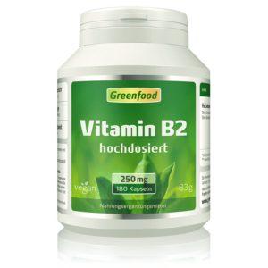 Vitamin B2, 250mg 180 Kapseln Image