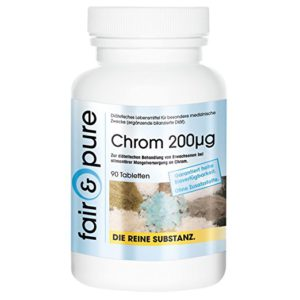 Chrom 200mcg, aus Chrom-III-Picolinat, 90 Tabletten Image