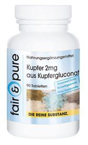 Kupfer 2mg, Kupfergluconat, 90 Tabletten Image
