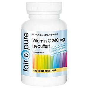Vitamin C 240mg gepuffert (säurefrei, magefreundlich) 180 Kapseln Image