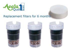 Filterkartuschen für Wasserfilter Acala Quell One/Swing 3 Stk. Image