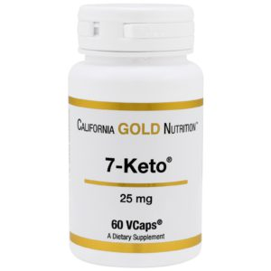 7-Keto DHEA, 25 mg, 60 vegetarische Kapseln Image