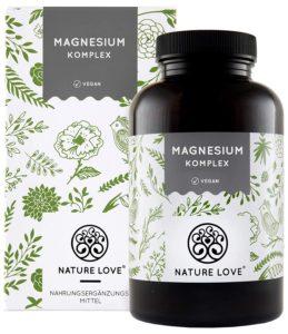 Magnesium Komplex hochdosiert mit Magnesiummalat, -oxid, -bisglycinat, -ascorbat und Tri-Magnesium Dicitrat Image