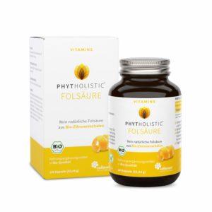 Folsäure, BIO Vitamin B9, 180 Kapseln aus Zitronenschalen Image