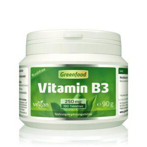 Vitamin B3, Niacinamid, flushfree, 250 mg, 180 Tabletten Image