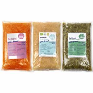 3er Mix Wilde Fermente - Kraut, Kimchi und Bohnen Image
