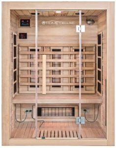 Infrarotkabine Home Deluxe Sahara L Vollspektrumstrahler & Hemlockholz 150 x 120cm Image